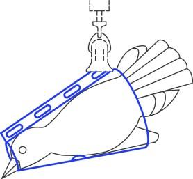 Cône de pesée pour oiseaux pour balance à ressort